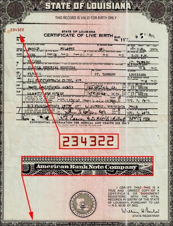 Fraude del Certificado de Nacimiento.(Articulo largo ...